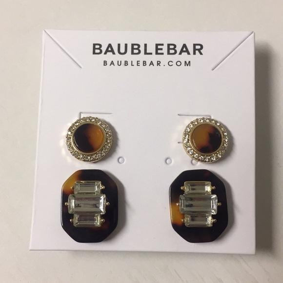 MOVING SALE NWT Bauble Bar Tortoise Earring Set NWT
